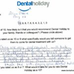 Hand written Dental Treatment Review